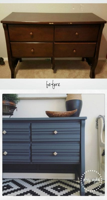 stacked wood drawer front dresser makeover Thirty Eighth Street