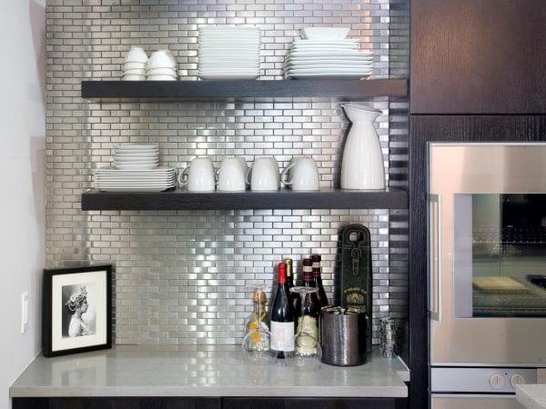 stainless steel backsplash tiles HGTV
