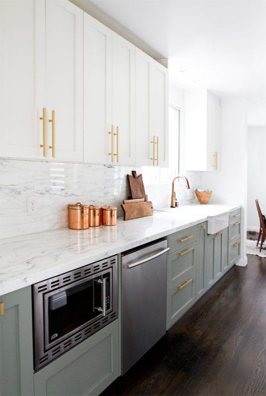 stunning white kitchen backsplash renovation-smittenstudio