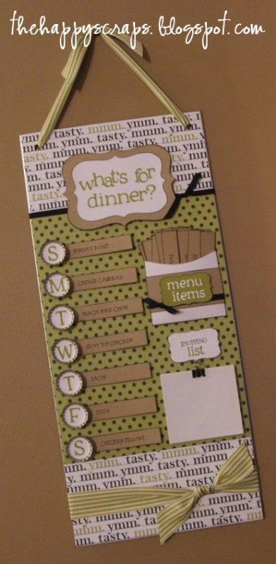 magnetic organized menu board