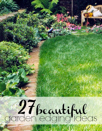 Remodelaholic quick easy diy curb appeal fixes for Homemade garden edging ideas