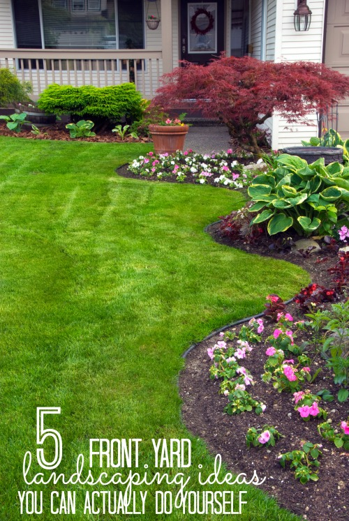 Quick easy diy curb appeal fixes remodelaholic for Quick garden design ideas