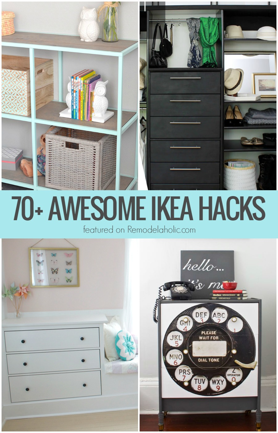 Remodelaholic 70 Awesome Ikea Projects