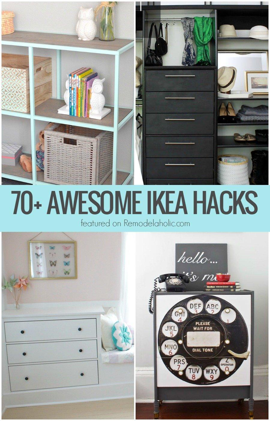 70+ Awesome IKEA Projects | Remodelaholic | Bloglovin\'