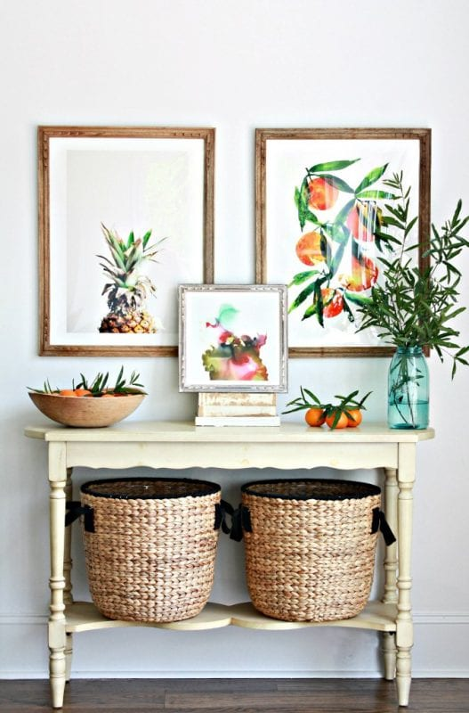 Texture + art   Modern Tropical Style on Remodelaholic.com
