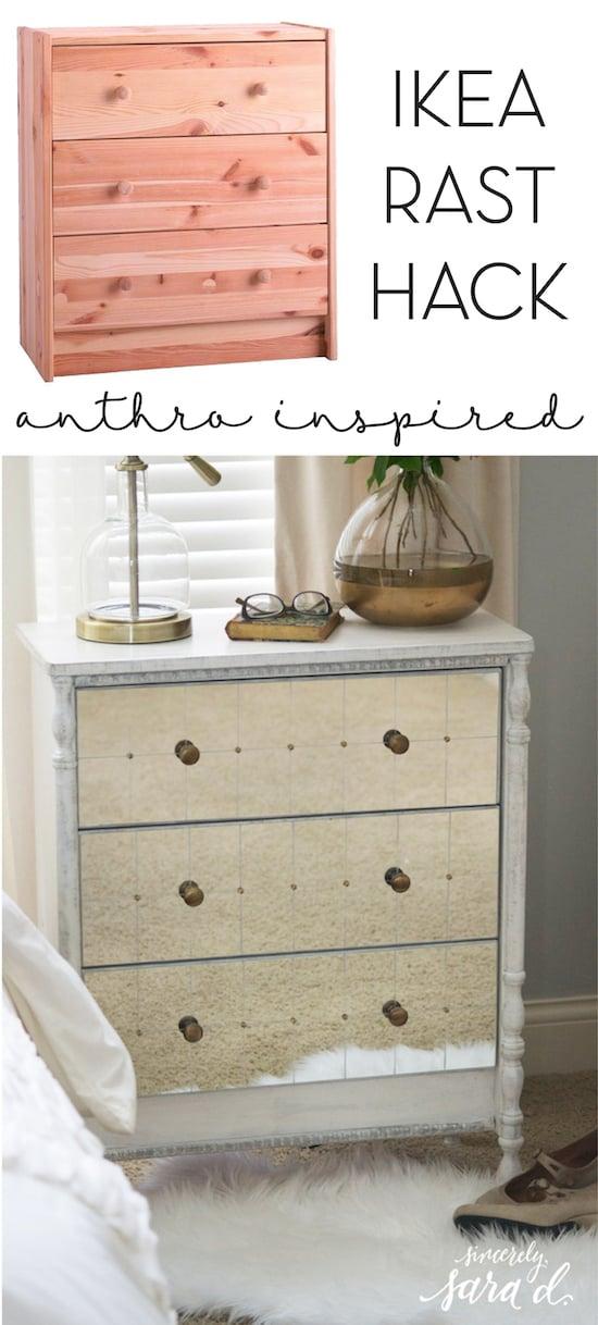 mirrored furniture ikea. Anthro Inspired Ikea Rast Hack Mirrored Furniture N