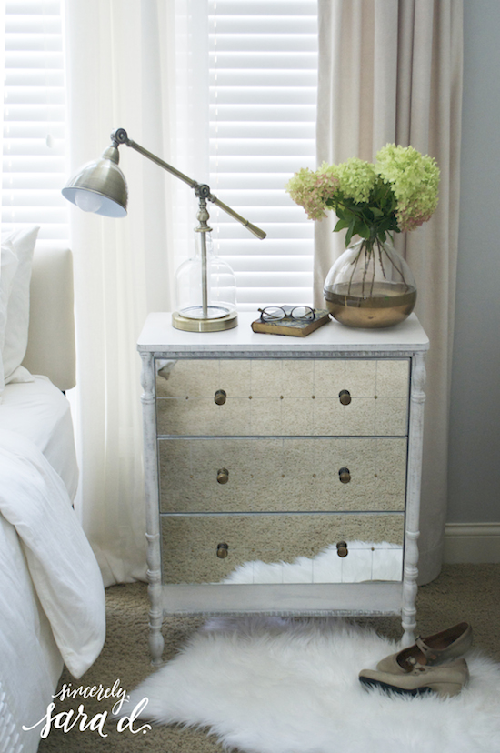 Remodelaholic turned leg mirrored ikea rast chest hack for How to make a nightstand higher