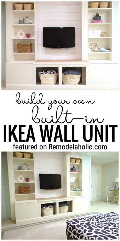 Build Your Own Built In IKEA Wall Unit Featured On Remodelaholic.com