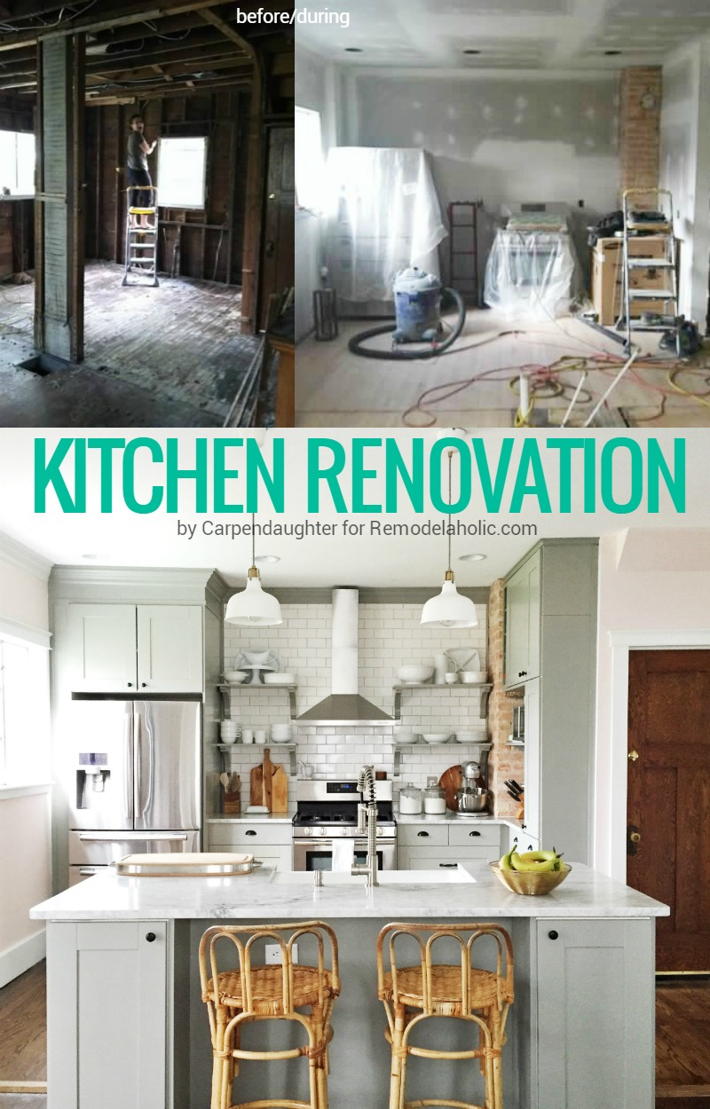 Fancy This kitchen renovation is AMAZING She took out a wall exposed the brick wall