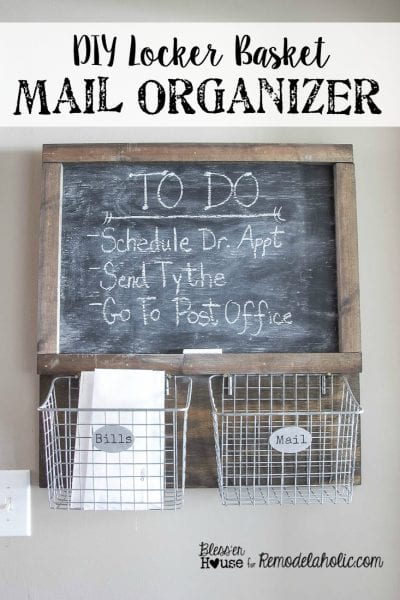 DIY-Locker-Basket-Mail-Organizer