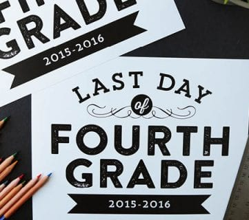 Printable Last Day of School Signs