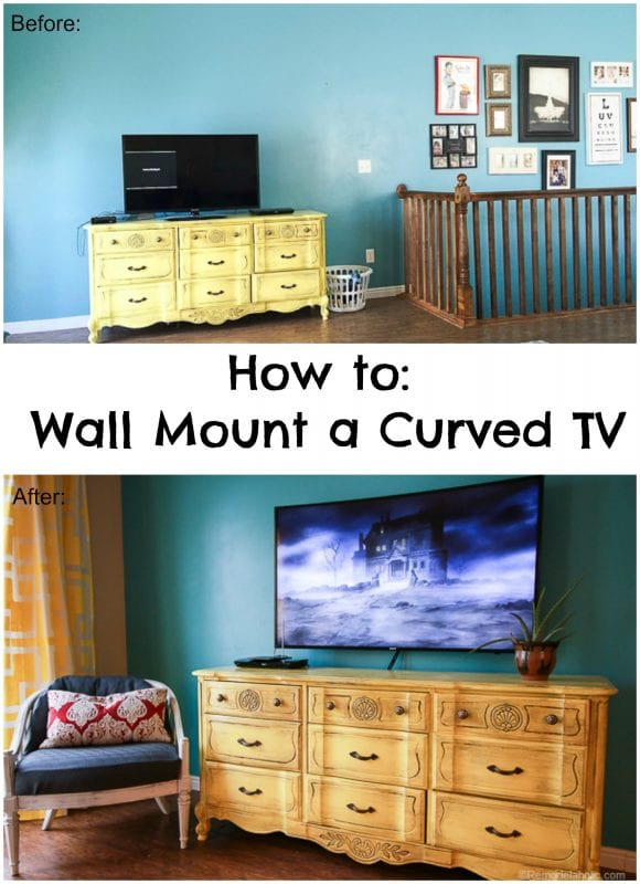 How to Mount a curved TV on the wall with Sanus
