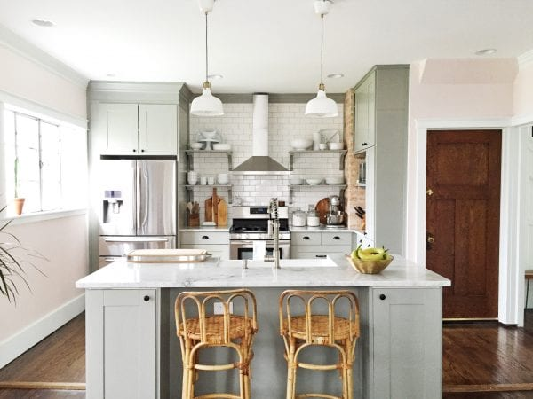 Remodelaholic | Whitney\'s Beautiful DIY Kitchen (with IKEA Cabinets!)