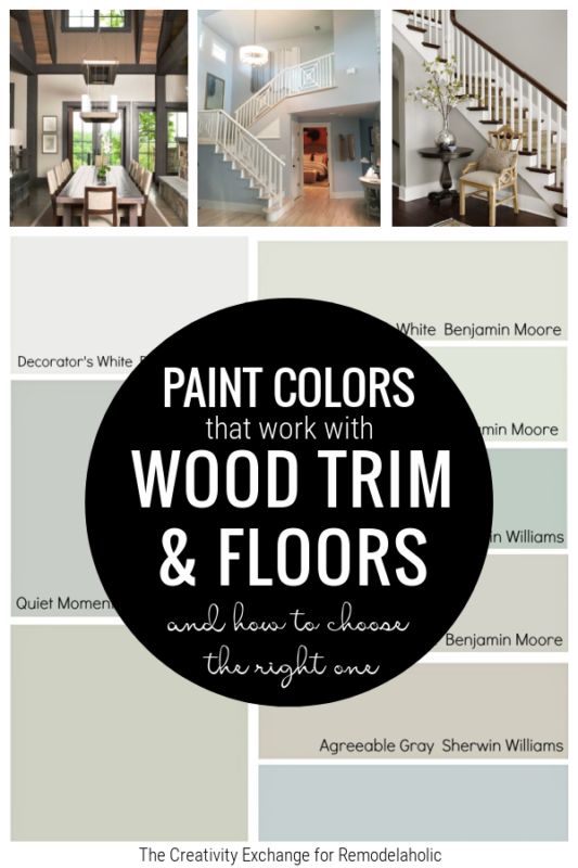 Paint Colors That Go With Wood Floors And Wood Trim From Remodelaholic