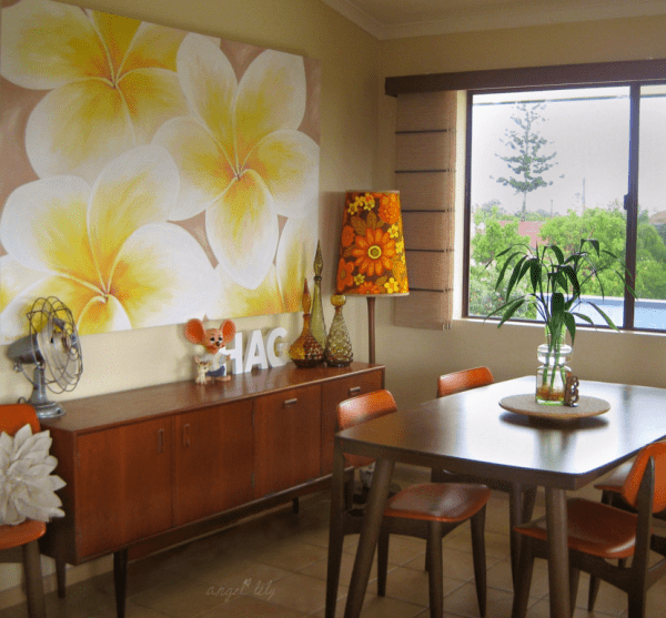 Retro Tropical Dining Off Beat Home | Modern Tropical Style on Remodelaholic.com