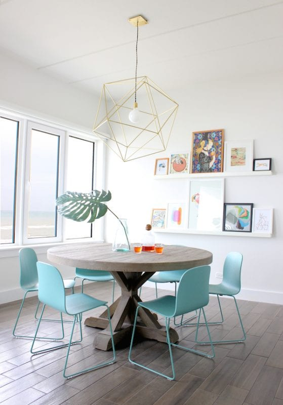 Beautiful dining area   Modern Tropical Style on Remodelaholic.com