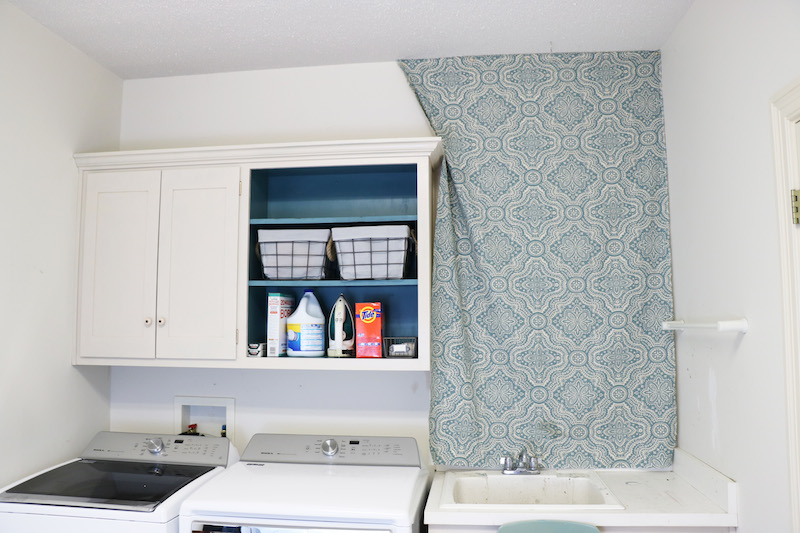 Remodelaholic | Starched Fabric Wall Treatment Tutorial