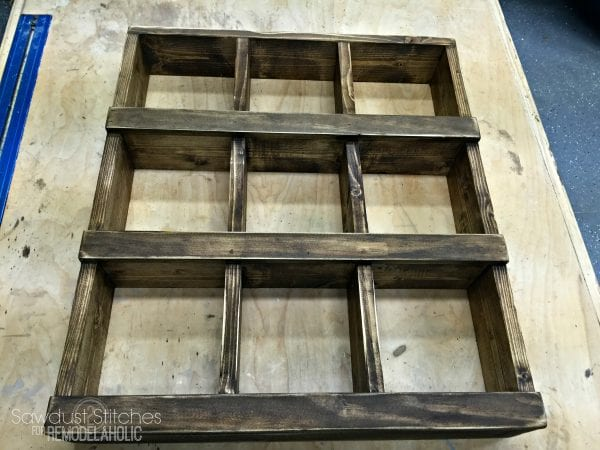 Rustic DIY Wall Cubby Shelf Building Tutorial