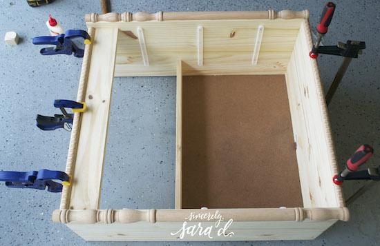 Turned Leg Mirrored Ikea Rast Chest Hack Remodelaholic