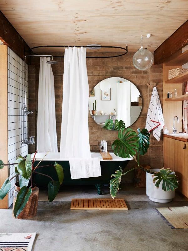 Tropical bathroom   Modern Tropical Style on Remodelaholic.com