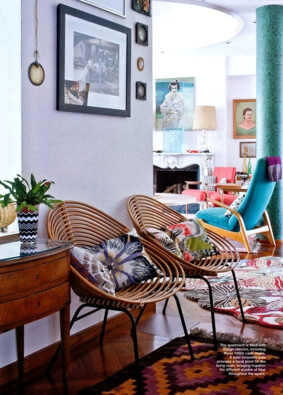 Tropical style chairs | Modern Tropical Style on Remodelaholic.com