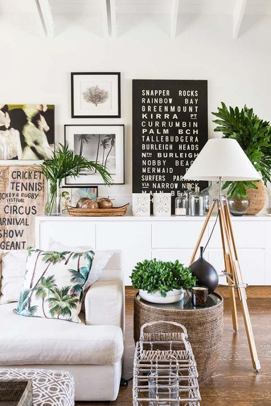 Tropical throw pillows   Modern Tropical Style on Remodelaholic.com