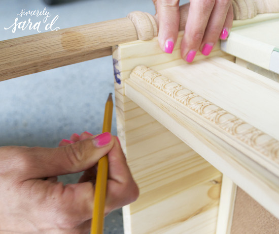 Use corner guard pieces to add turned legs to an IKEA dresser, Sincerely Sara D on @Remodelaholic
