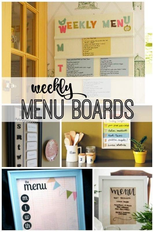 Weekly Menu Boards featured on remodelaholic.com