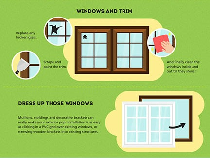 Windows and Trim Curb Appeal Ideas remodelaholic.com