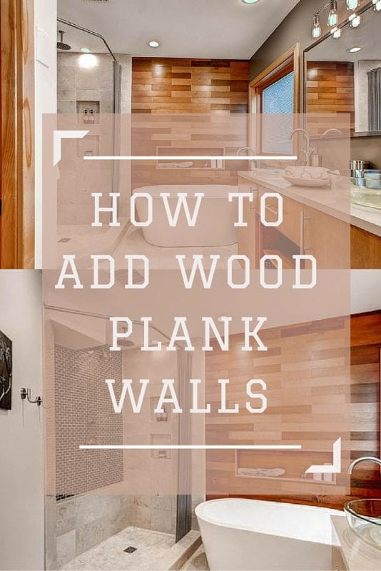 Adding a stained wood plank wall adds so much warmth and character to a room! This DIY tutorial shows you how to make it look perfect.