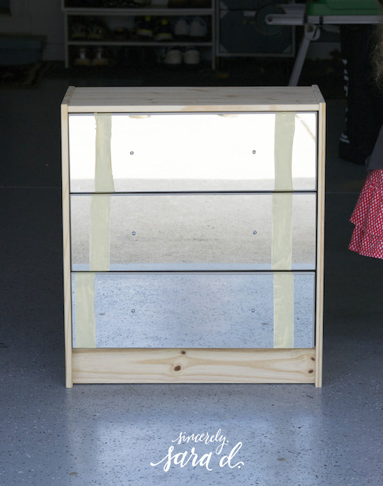 adding mirrors to RAST drawers, Sincerely Sara D on @Remodelaholic