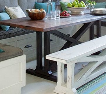 Rustic X Dining Table And Bench Building Plan