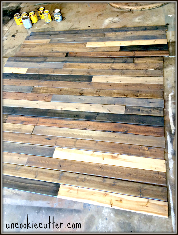 diy rustic farmhouse style mixed wood wall, Uncookie Cutter