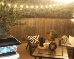 add ambience to your patio - remodelaholic