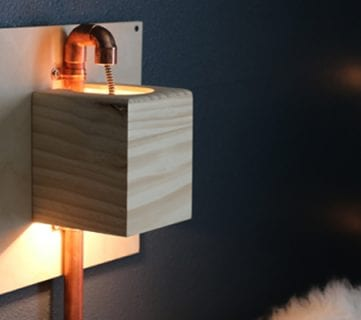 Renter-Friendly DIY Wall Sconce Tutorial