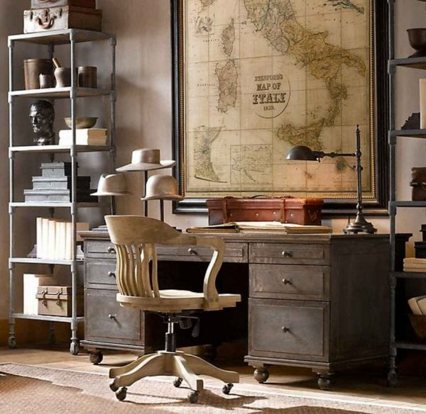 old-maps-decoration-for-office homedit