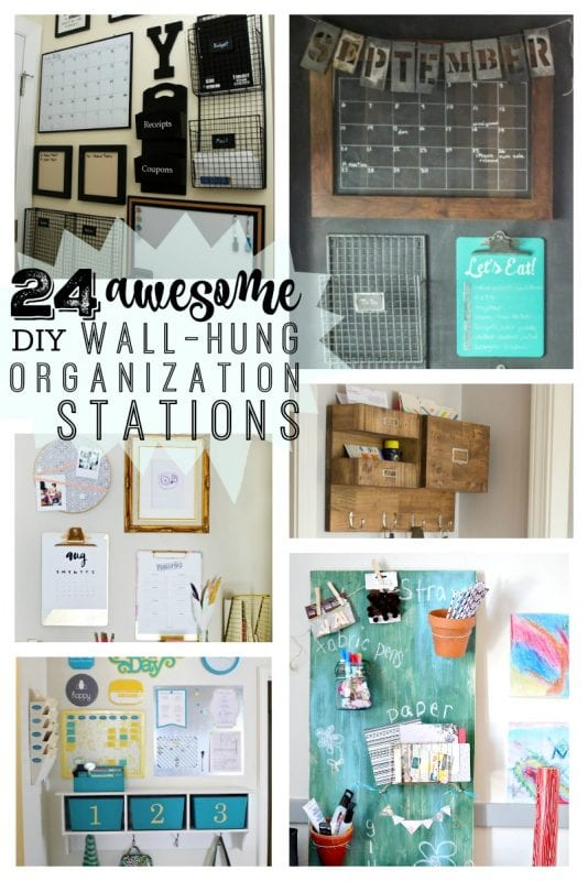 Remodelaholic 24 Awesome Diy Wall Organization Stations