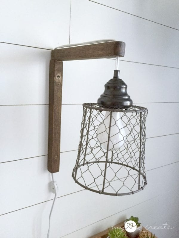 Rustic Wall Sconces Plug In : Remodelaholic 4 Easy Rustic Farmhouse DIYs + April Link Party