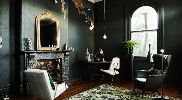 steampunk living room dulux