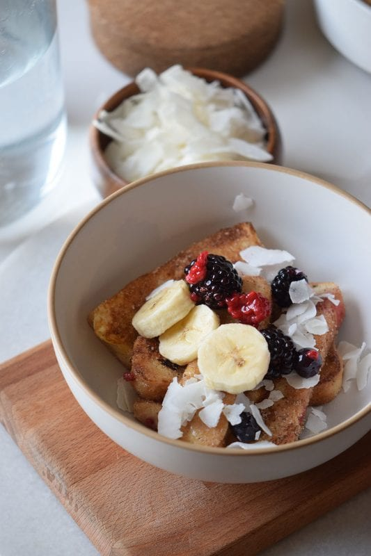 French Toast Bowl with Cinnamon Sugar, an easy breakfast recipe