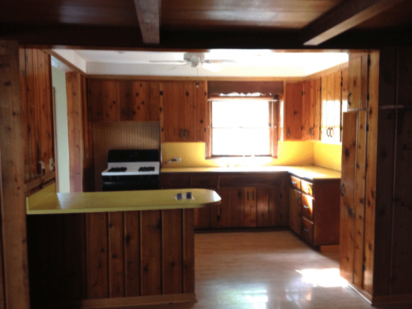 Remodelaholic kitchen renovation updating knotty pine cabinets - Knotty pine cabinets makeover ...