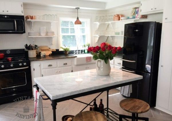 Remodelaholic Kitchen Renovation Updating Knotty Pine