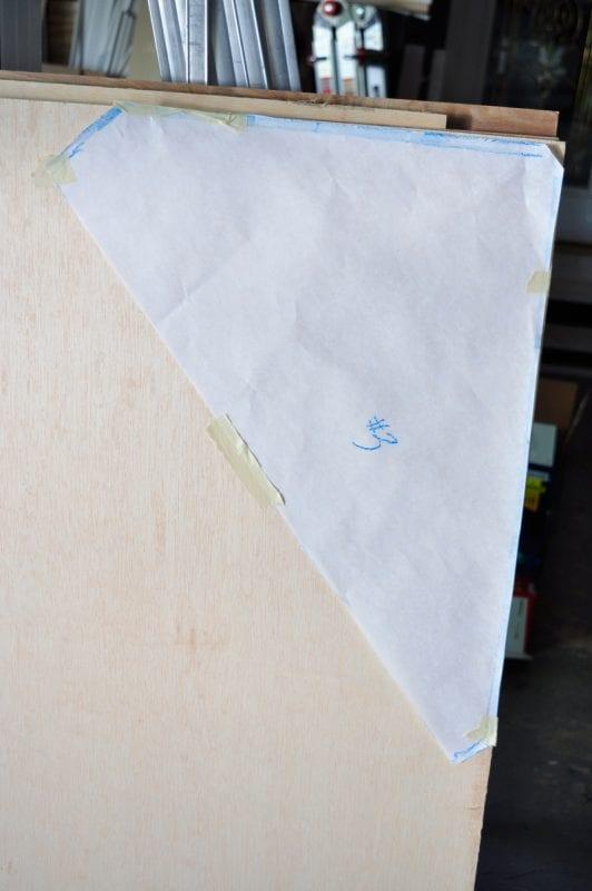 how to cut odd corner floating shelf shapes from plywood, coat closet organizing ideas