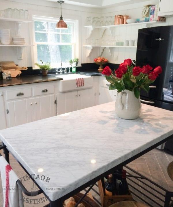 Kitchen Island Updates: Kitchen Renovation: Updating Knotty Pine