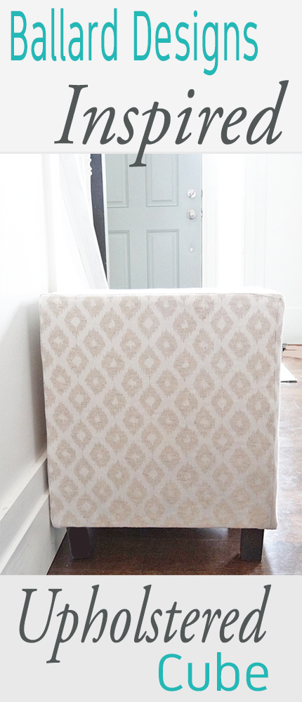 Add seating and comfort with an easy multipurpose DIY upholstered cube ottoman or stool. You can make your own for MUCH less than buying one at the store, plus use your favorite fabric. Full tutorial from Provident Home Design on Remodelaholic.com