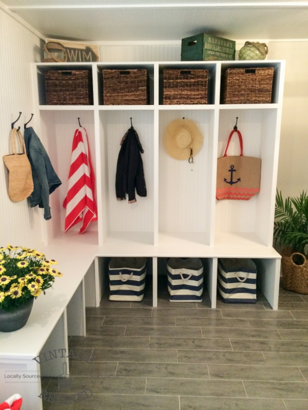 Beautiful mudroom by Vintage Refined -- it has a doggy shower, so smart!