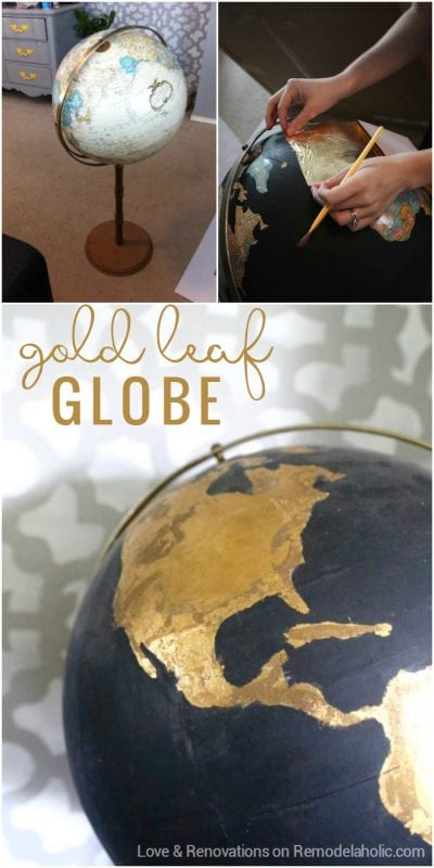 DIY Gold Leaf Globe Tutorial @Remodelaholic