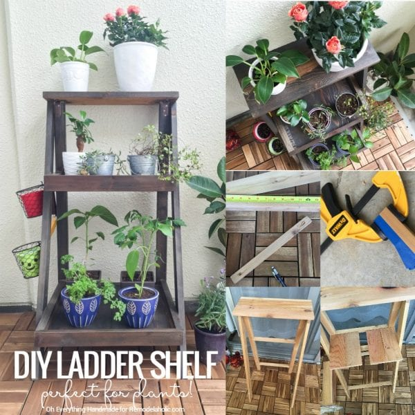 Remodelaholic Tutorial How To Build A Ladder Plant Stand