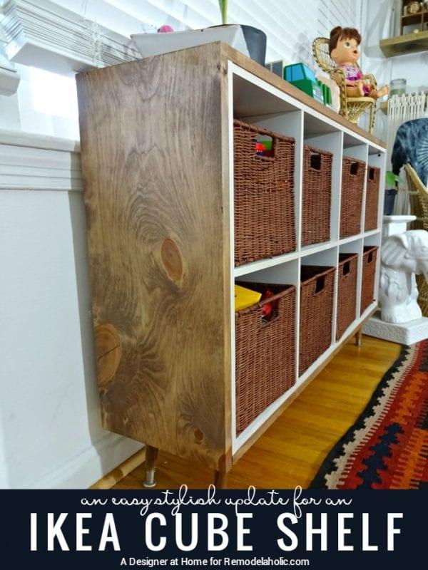 Easy update for IKEA kallax or expedit shelf