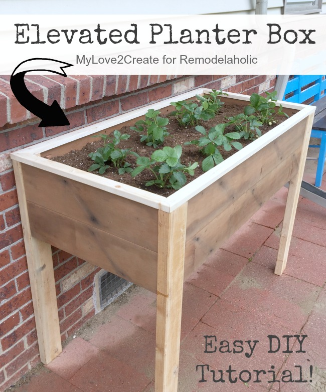 Remodelaholic build an elevated planter box and save for Home garden box design